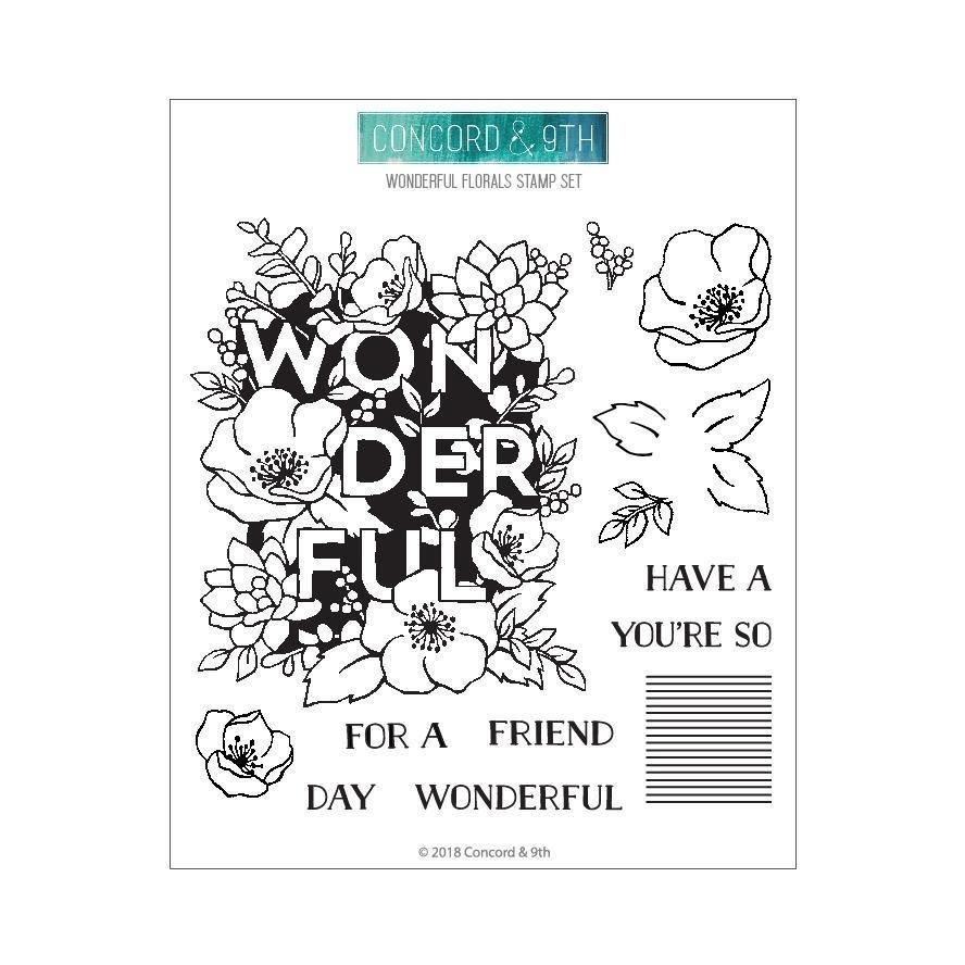 Concord & 9th WONDERFUL FLORALS Stamp Set