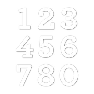 Siimon Says Stamp ARCHIE SOLID NUMBERS CZ Design Die Set