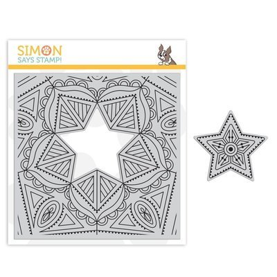 Simon Says Stamp CENTER CUT STAR Cling Stampp