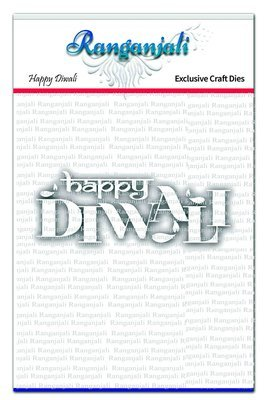 Ranganjali HAPPY DIWALI Words Exclusive Craft Die Set