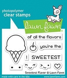 Lawn Fawn SWEETEST FLAVOR Clear Stamp Set