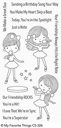 My Favorite Things FRIENDSHIP ROCKS Clear Stamp Set