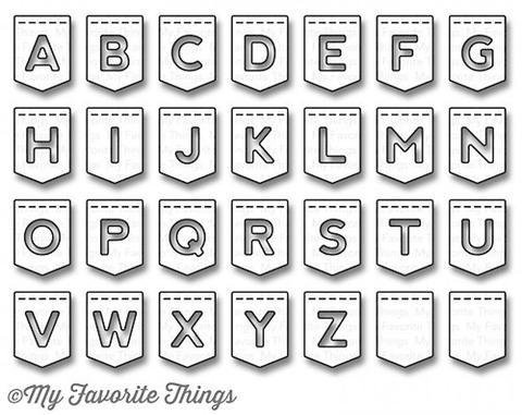 My Favorite Things STITCHED BANNER ALPHABET Die-Namics Dies