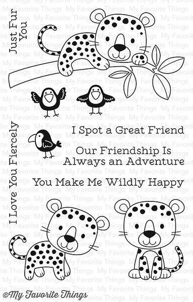 My Favorite Things LOVABLE LEOPARDS Clear Stamp Set