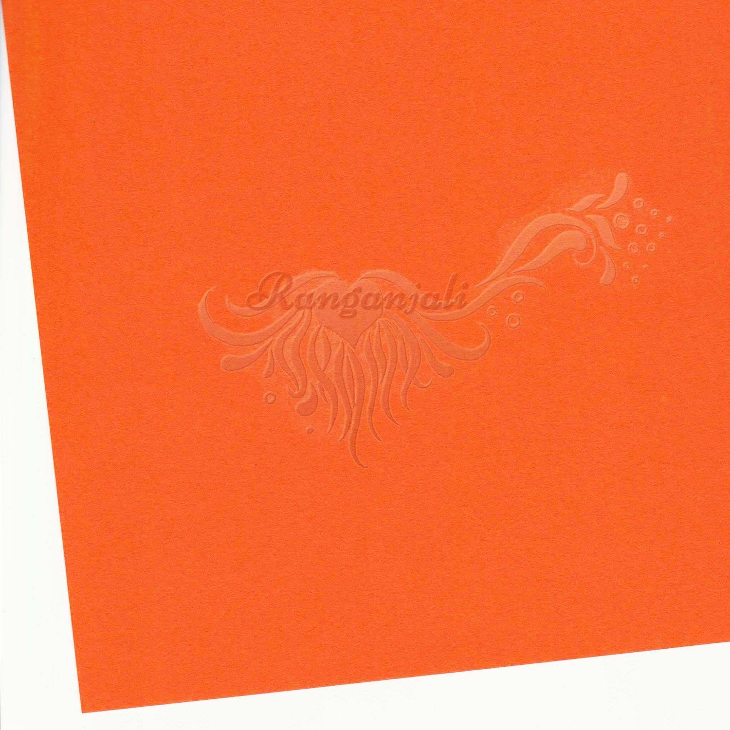 ORLANDO ORANGE - 250GSM Heavyweight Smooth A4 Cardstock- 5/pk