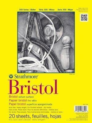 Strathmore BRISTOL VELLUM 9x12 Paper Pad