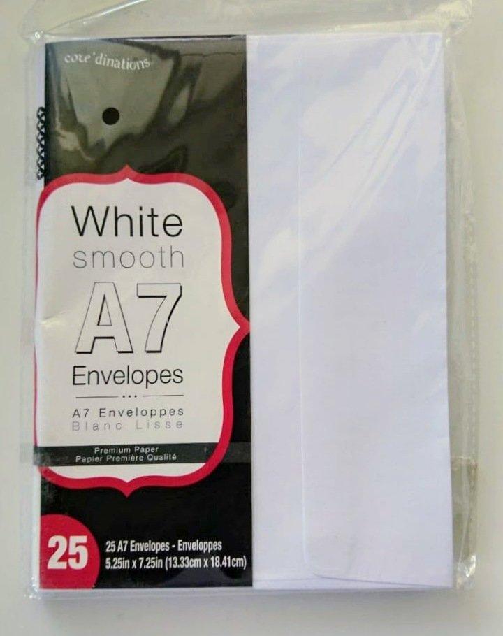 Darice WHITE SMOOTH A7 Envelopes- 25/pk