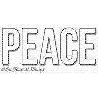 My Favorite Things PEACE Die-namics die