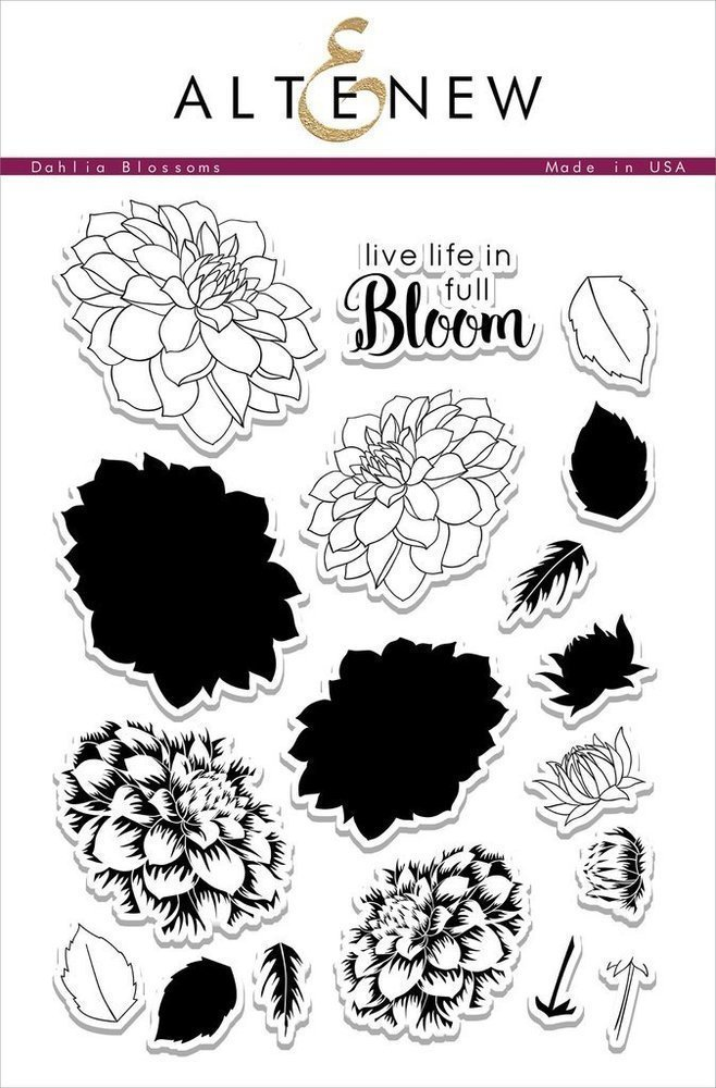 Altenew DAHLIA BLOSSOMS Clear Stamp Set