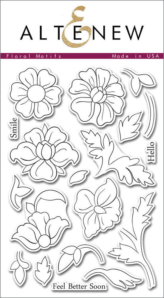 Altenew FLORAL MOTIFS Clear Stamp Set
