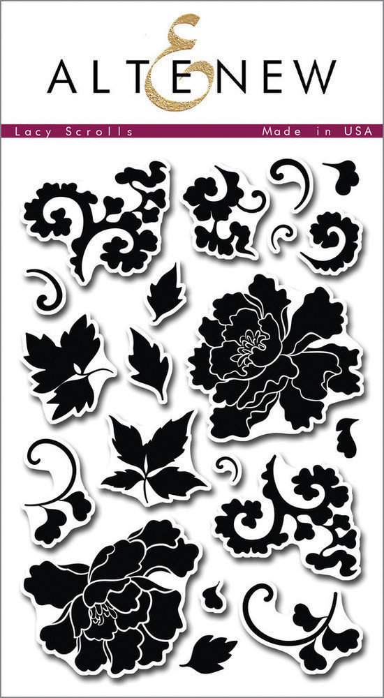 Altenew LACY SCROLLS Clear Stamp Set