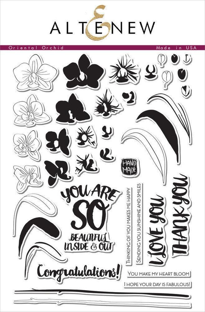 Altenew ORIENTAL ORCHID Clear Stamp Set
