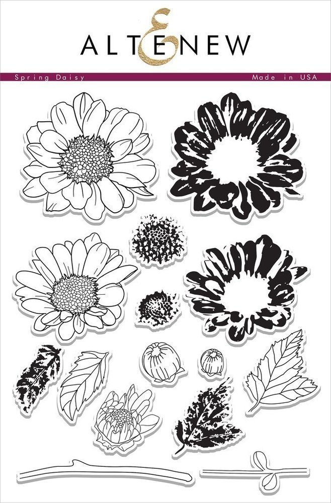 Altenew SPRING DAISY Clear Stamp Set