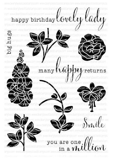 Clearly Besotted RIBBON FLOWERS Clear Stamp Set