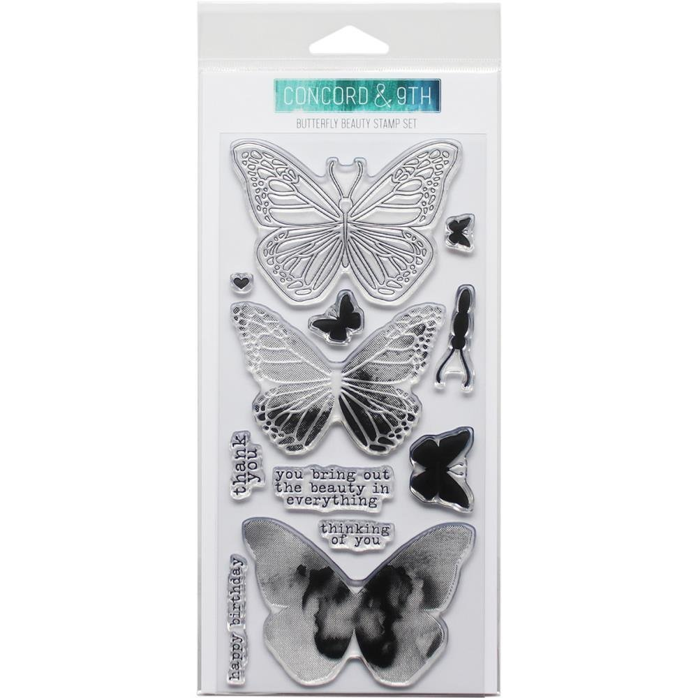Concord & 9th BUTTERFLY Clear Stamp Set