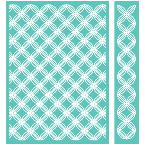 Cuttlebug GEOMETRIC RINGS Embossing Folder & Border
