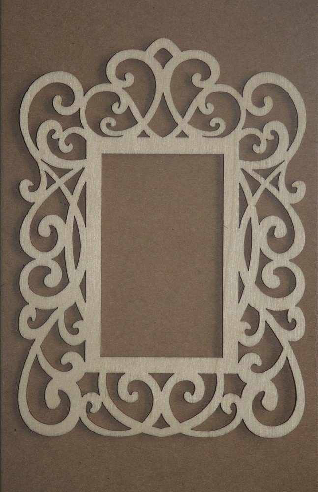 Decorative SQUARE Frame Laser Cut Wood Veneer Shapes