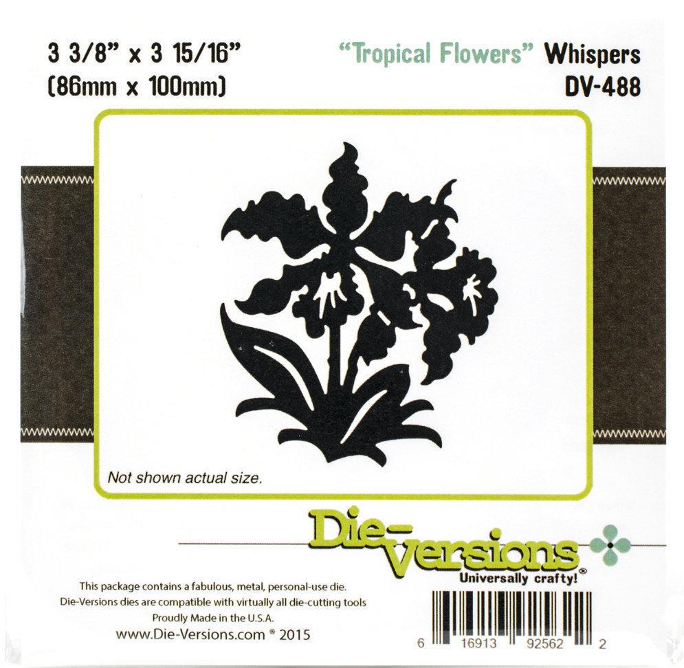 Die-Versions TROPICAL FLOWERS Whispers Die