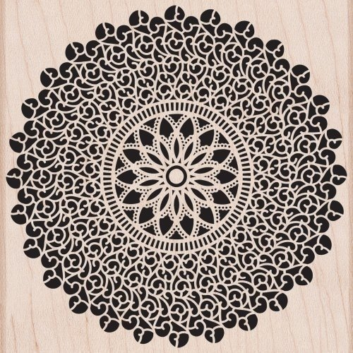 Hero Arts STARBURST LACE Wood Mounted Rubber Stamp