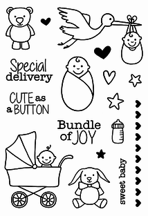 Jane's Doodles SPECIAL DELIVERY  Clear Stamps