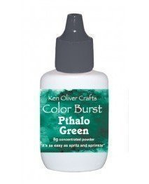 Ken Oliver PTHALO GREEN Color Burst Powder