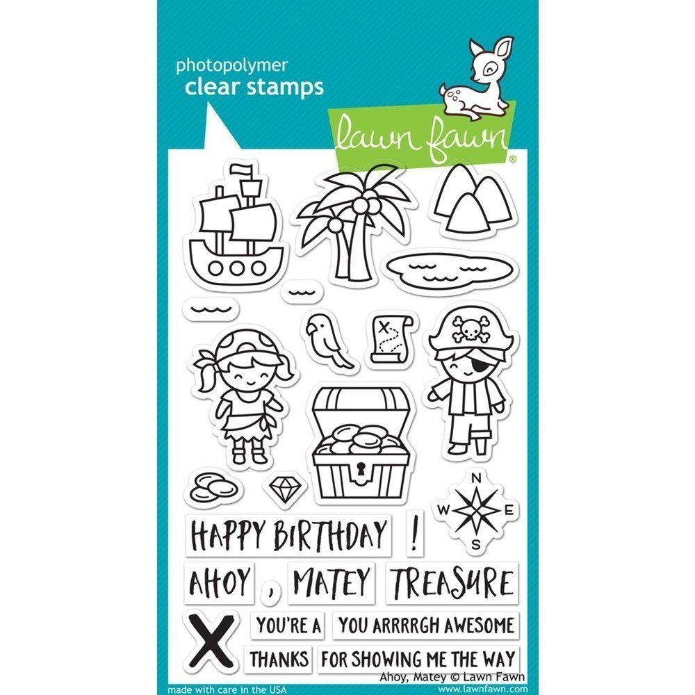 Lawn Fawn AHOY MATEY Clear Stamp Set