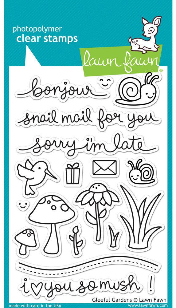 Lawn Fawn GLEEFUL GARDENS Clear Stamp Set