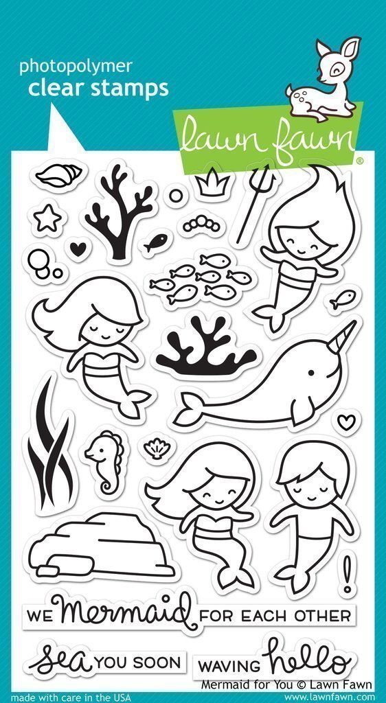 Lawn Fawn MERMAID FOR YOU Clear Stamp Set