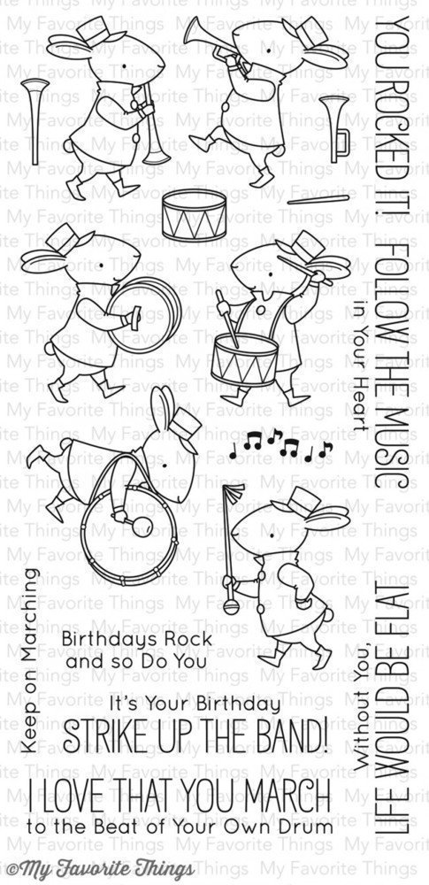 My Favorite Things BB STRIKE UP THE BAND Clear Stamp Set