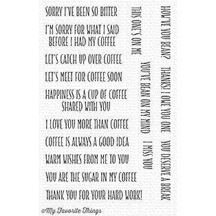 My Favorite Things COFFEE BREAK Clear Stamp Set