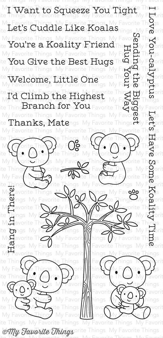 My Favorite Things CUDDLY KOALAS Clear Stamp Set