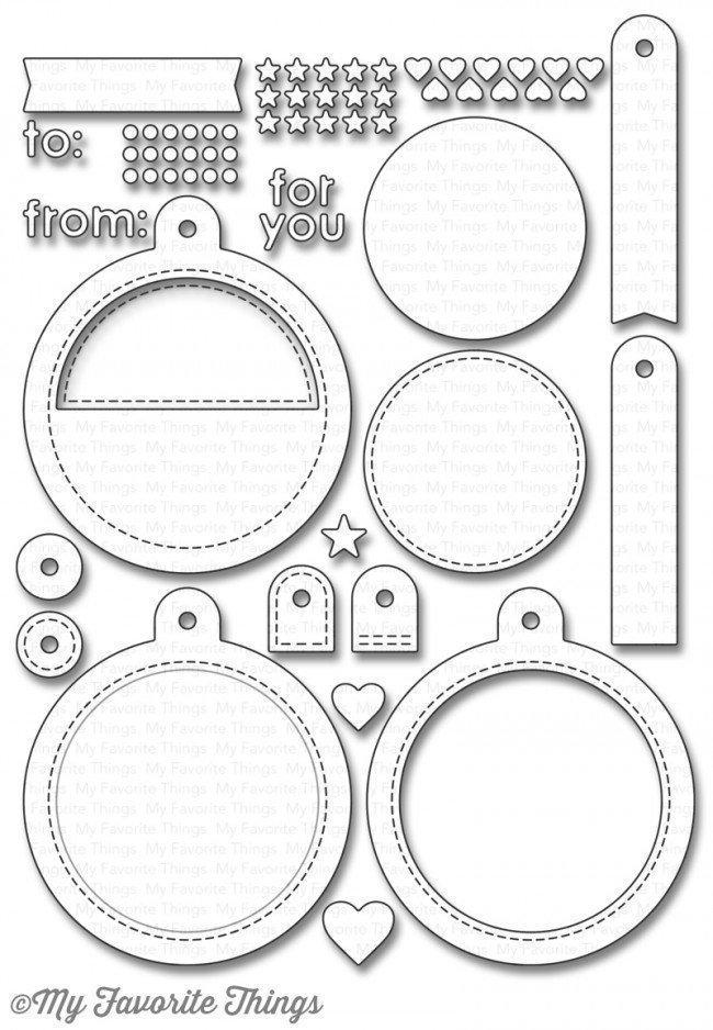 My Favorite Things TAG BUILDER Blueprints 6 Die-namics Die Set