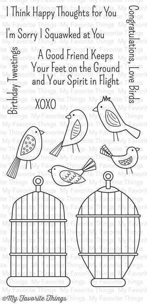My Favorite Things TWEET FRIENDS Clear Stamp Set