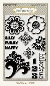 My Mind's Eye Notable SILLY Decorative Clear Stamps