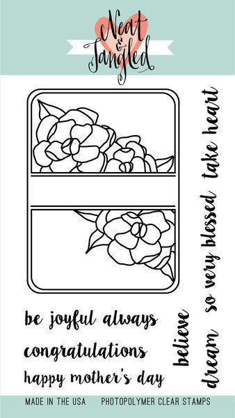 Neat & Tangled GARDENIA BLOOMS JOURNALING CARD Stamp Set
