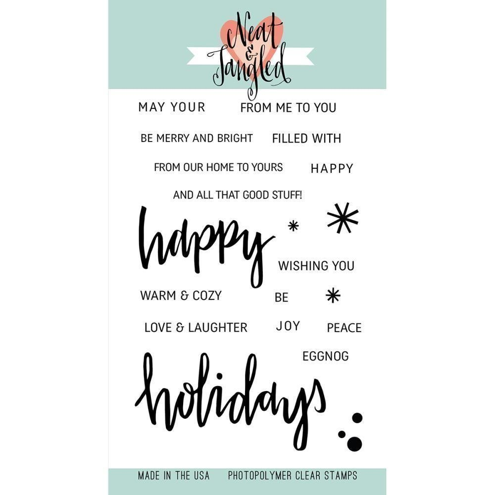 Neat & Tangled HAPPY HOLIDAYS Clear Stamp Set