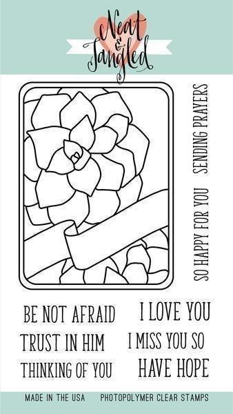 Neat & Tangled SUCCULENT Journaling Card Clear Stamp