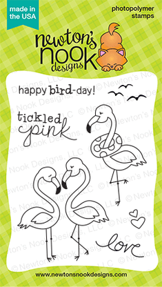 Newton's Nook FLIRTY FLAMINGOS Clear Stamp Set
