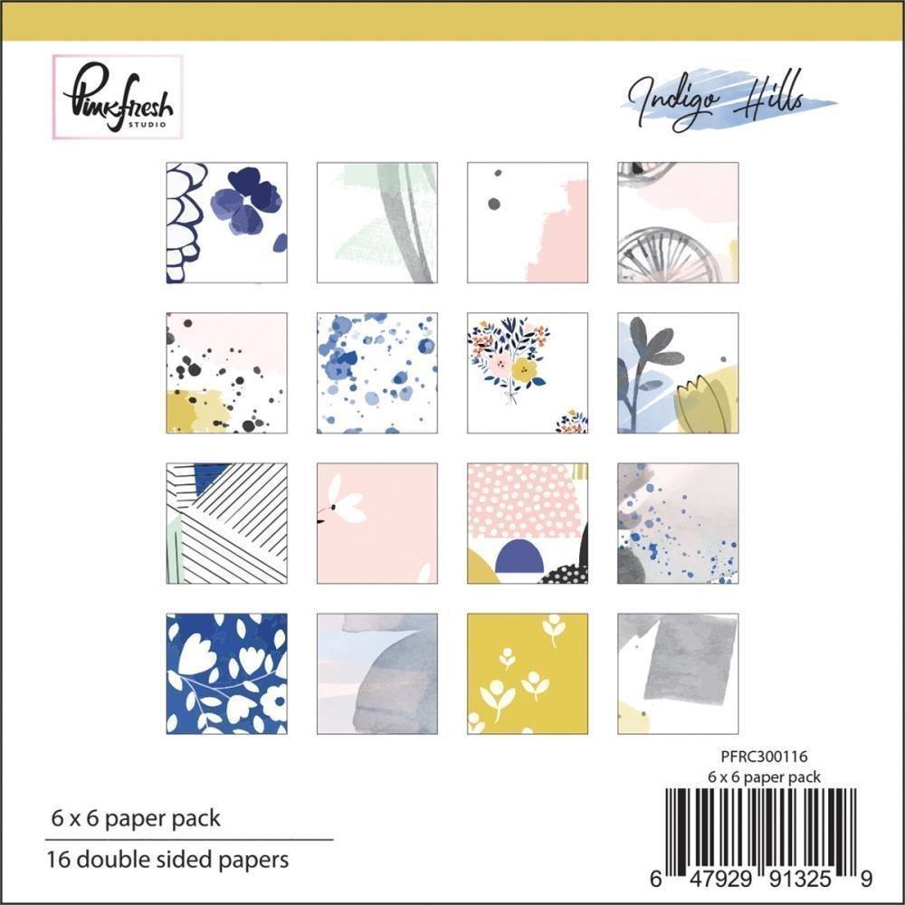 Pinkfresh Studio INDIGO HILLS Paper Pack