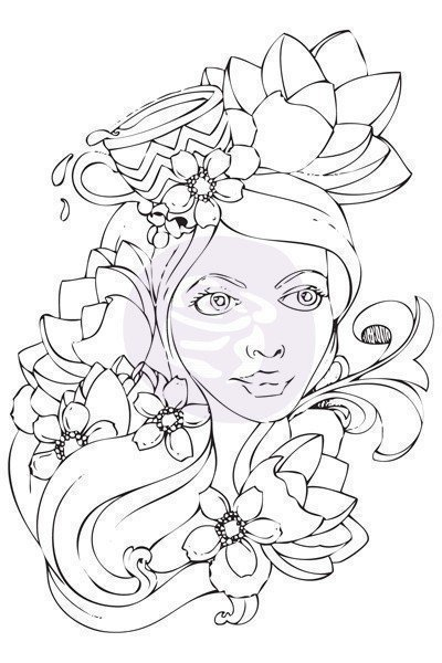 Prima Marketing PAIGE Bloom Cling Stamp