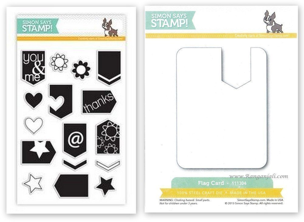 Simon Says Stamp ARROW FLAGS Coordinating Stamp & Die Set