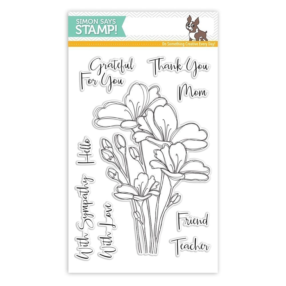 Simon Says Stamp BOUQUET OF THANKS Clear Stamp Set