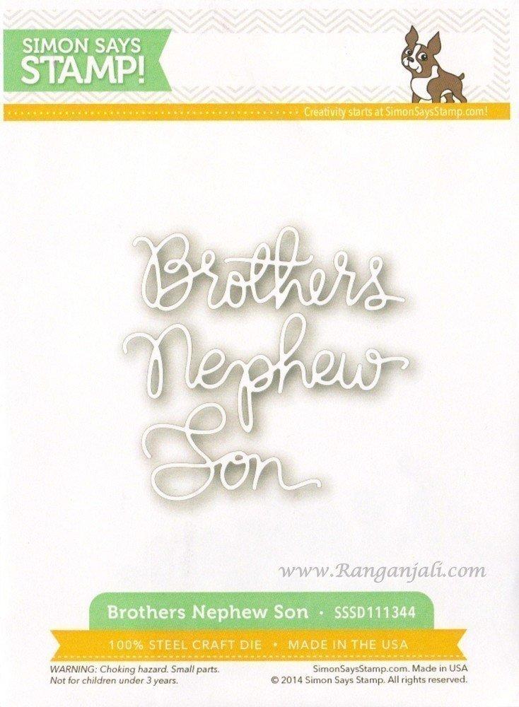 Simon Says Stamp BROTHERS NEPHEW SON Craft Dies