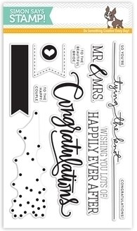 Simon Says Stamp CONGRATULATIONS Clear Stamp Set