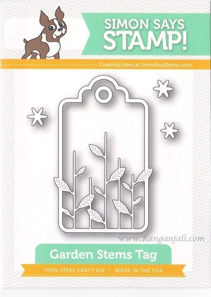 Simon Says Stamp GARDEN STEMS TAG Craft Dies