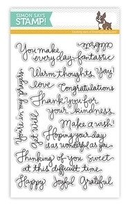 Simon Says Stamp HANDWRITTEN GREETINGS Clear Stamp Set