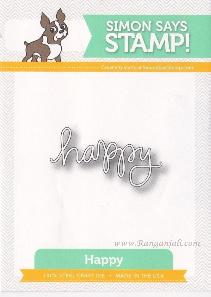 Simon Says Stamp HAPPY Word Die