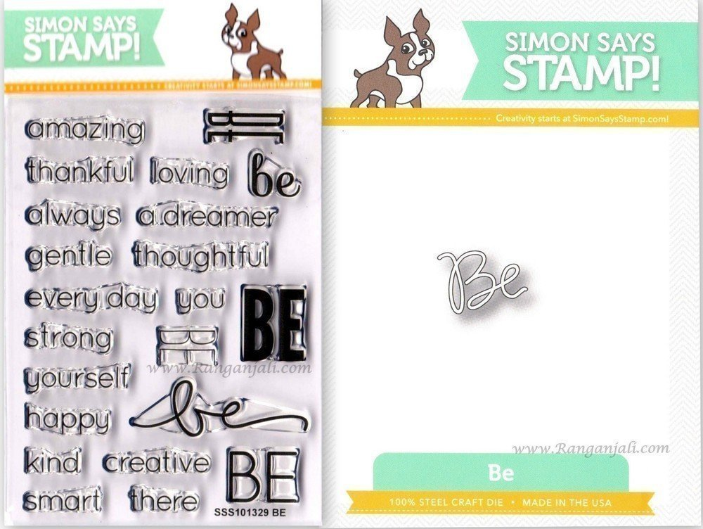 Simon Says Stamp SENTIMENTS OF BE Coordinating Die & Stamp Set