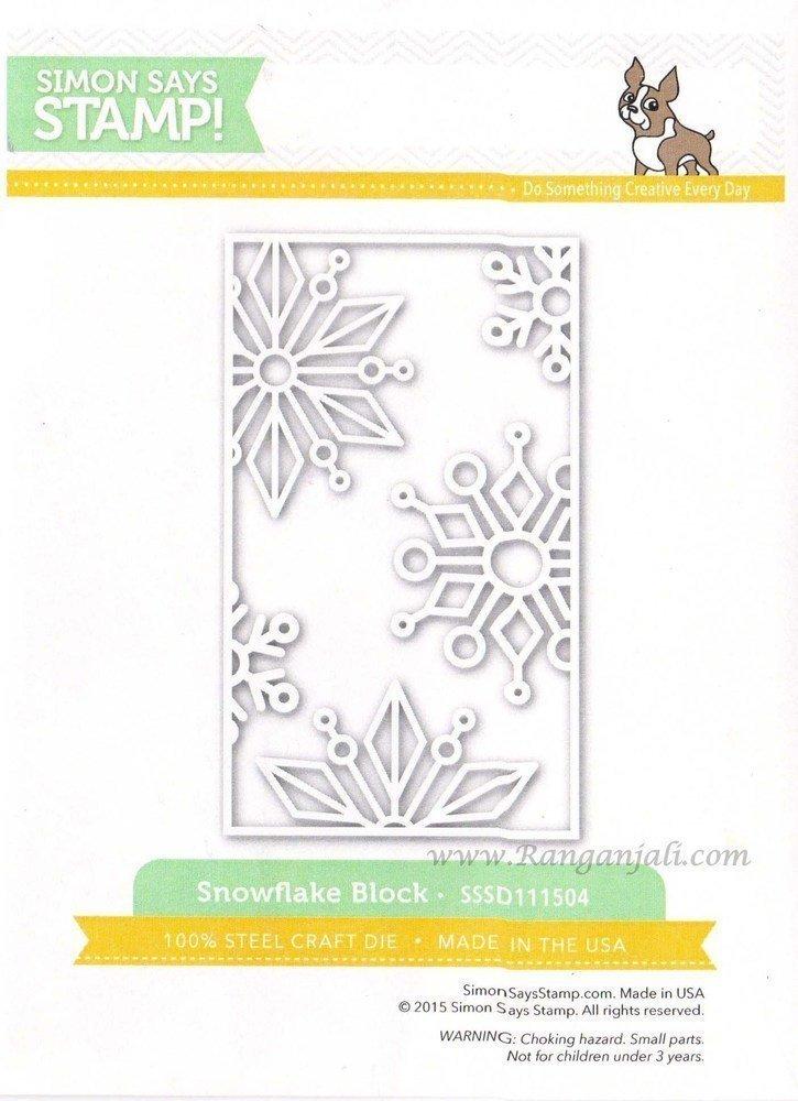 Simon Says Stamp SNOWFLAKE BLOCK Wafer Die