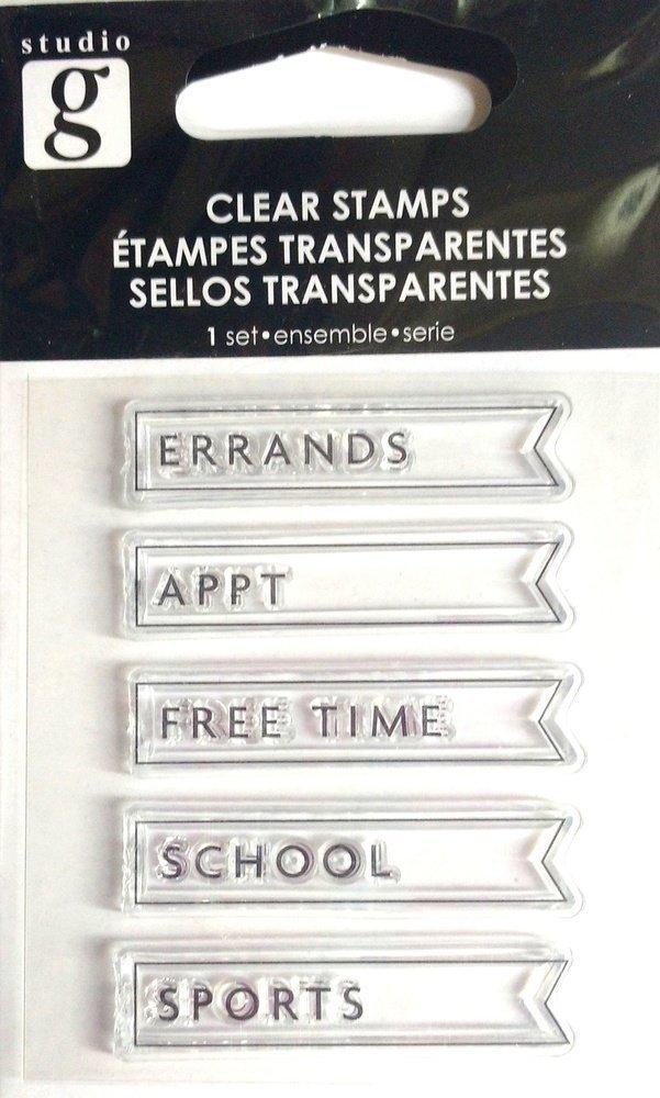 Studio G PLANNER 2 Clear Mini Stamp Set
